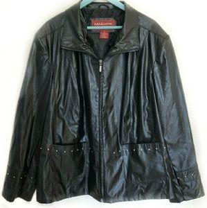 MM essentials by Mark Mattis faux leather jacket
